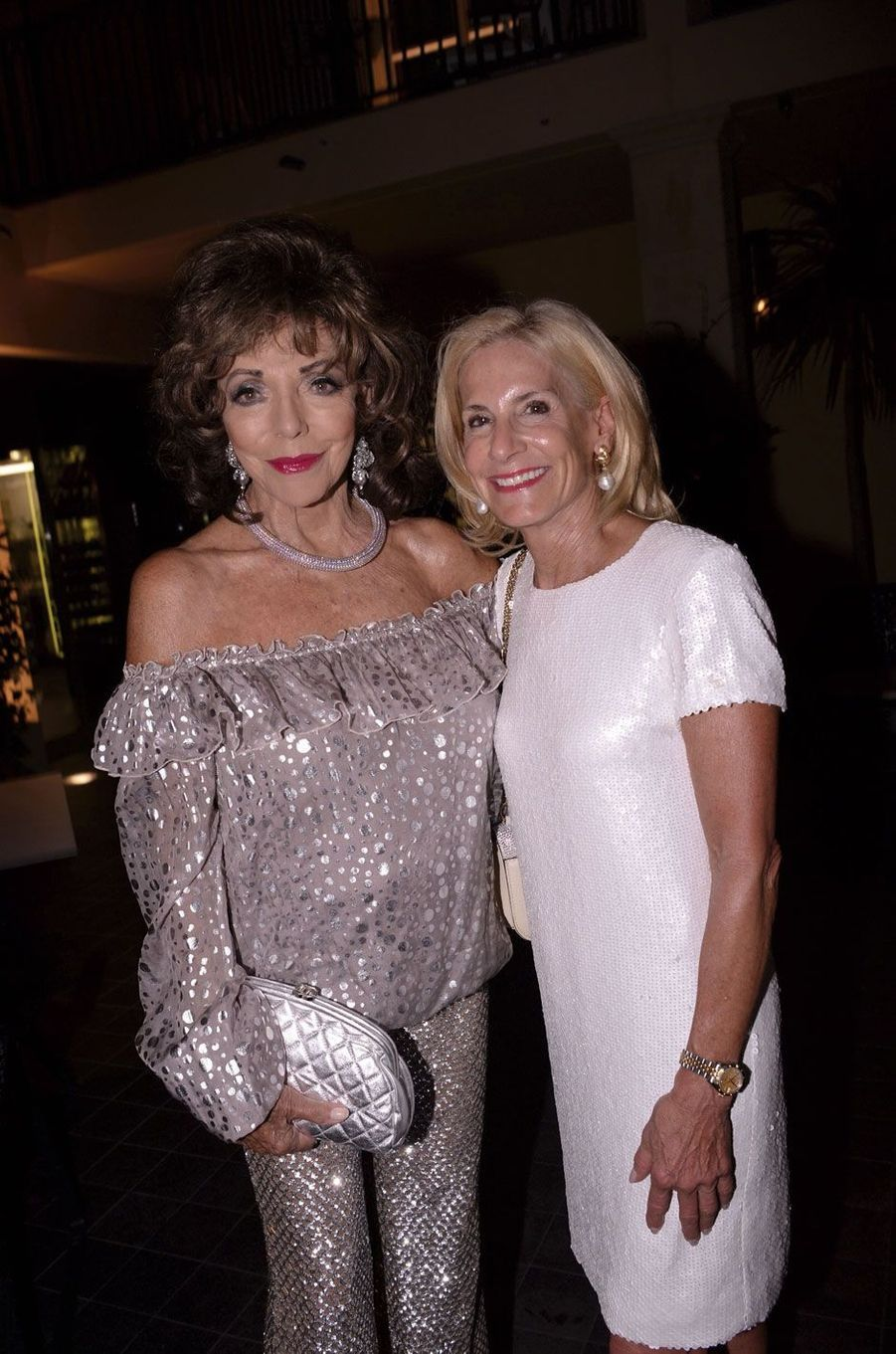 Joan Collins, Jamie McCourt.