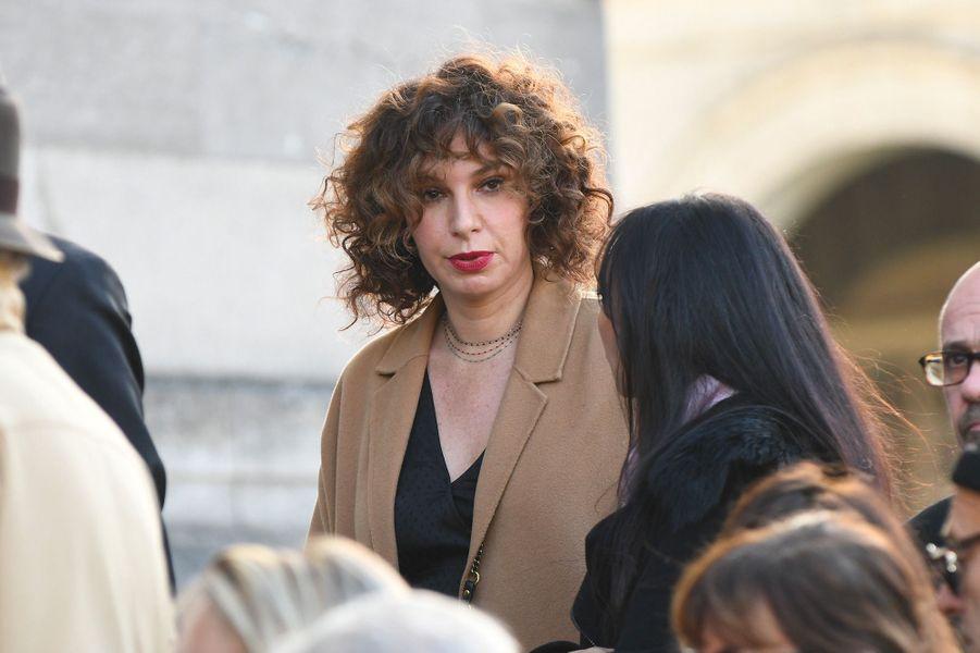 Anne Depetrini aux obsèques de Philippe Gildas au Père Lachaise, à Paris, lundi 5 novembre