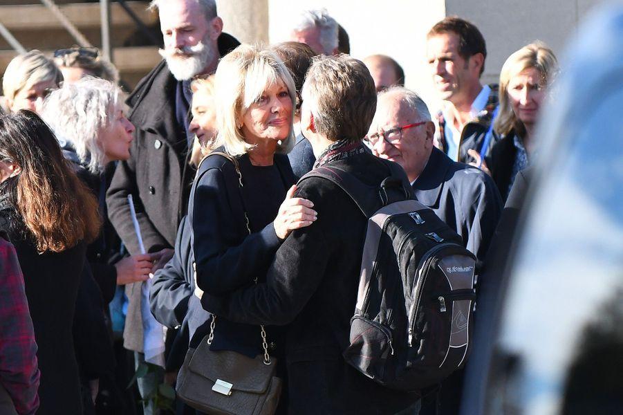 Maryse Gildas aux obsèques de Philippe Gildas au Père Lachaise, à Paris, lundi 5 novembre