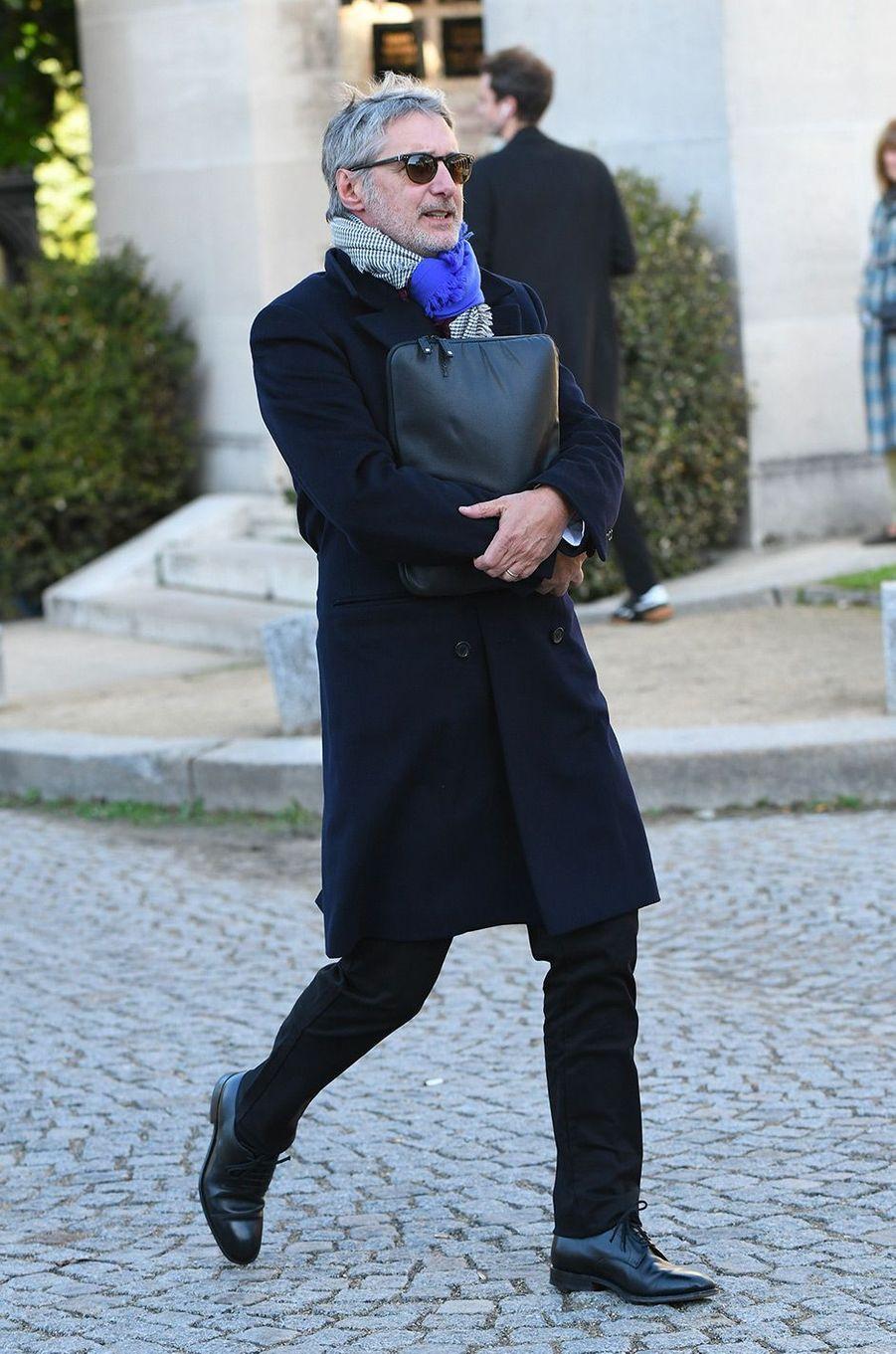 Antoine De Caunes aux obsèques de Philippe Gildas au Père Lachaise, à Paris, lundi 5 novembre