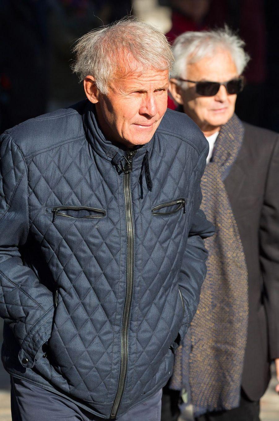Patrick Poivre d'Arvor aux obsèques de Philippe Gildas au Père Lachaise, à Paris, lundi 5 novembre