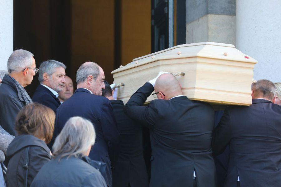 Les obsèques de Philippe Gildas au Père Lachaise, à Paris, lundi 5 novembre