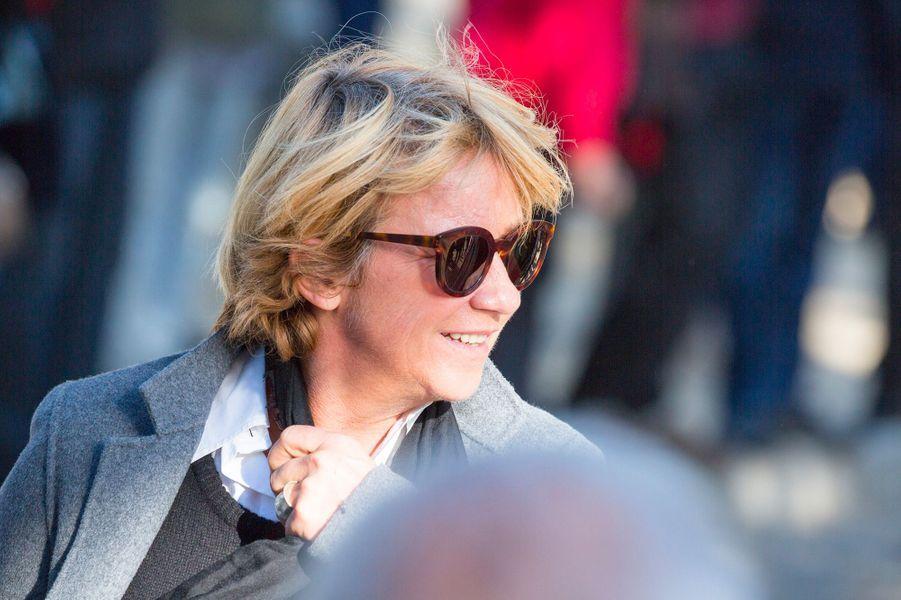 Ariane Massenet aux obsèques de Philippe Gildas au Père Lachaise, à Paris, lundi 5 novembre