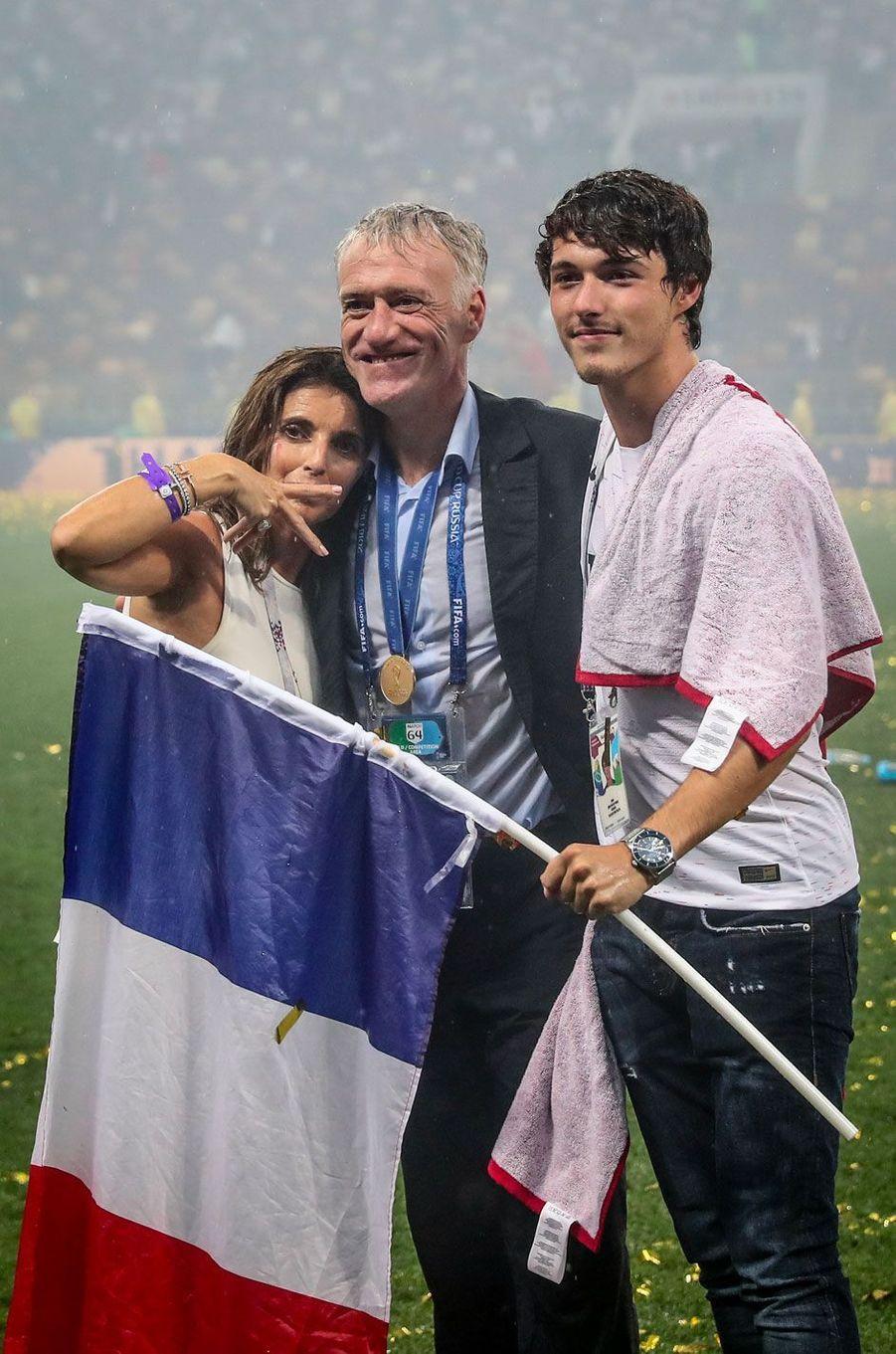 Didier Deschamps et son fils Dylan et sa femme Claude