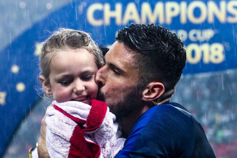Olivier Giroud avec sa fille Jade