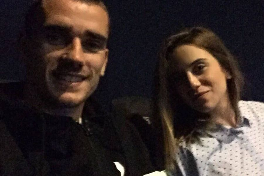 Antoine Griezmann et Erika Choperena, deux jeunes mariés.
