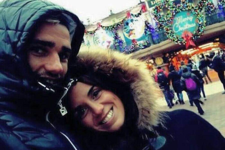Antoine Griezmann et Erika Choperena à Disneyland.