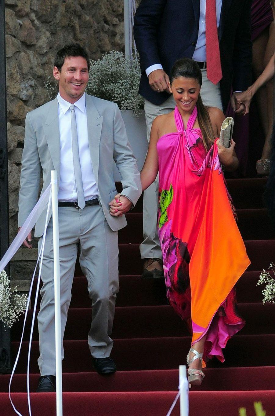 Lionel Messi et Antonella Roccuzzo en 2012