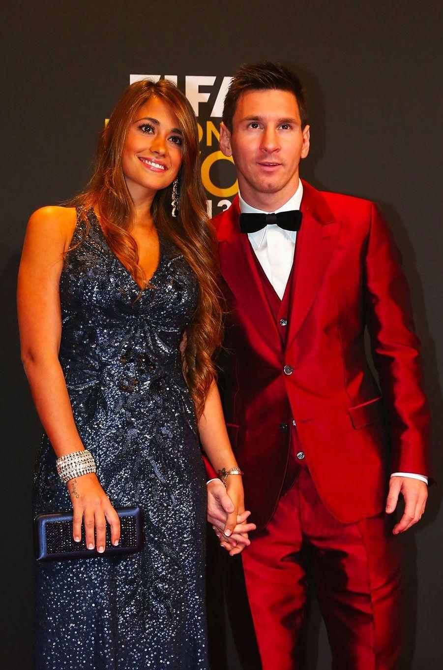 Lionel Messi et Antonella Roccuzzo en 2014