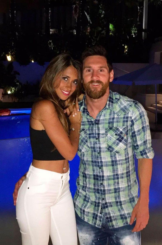 Lionel Messi et Antonella Roccuzzo en 2017