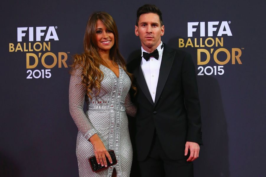 Lionel Messi et Antonella Roccuzzo en janvier 2016