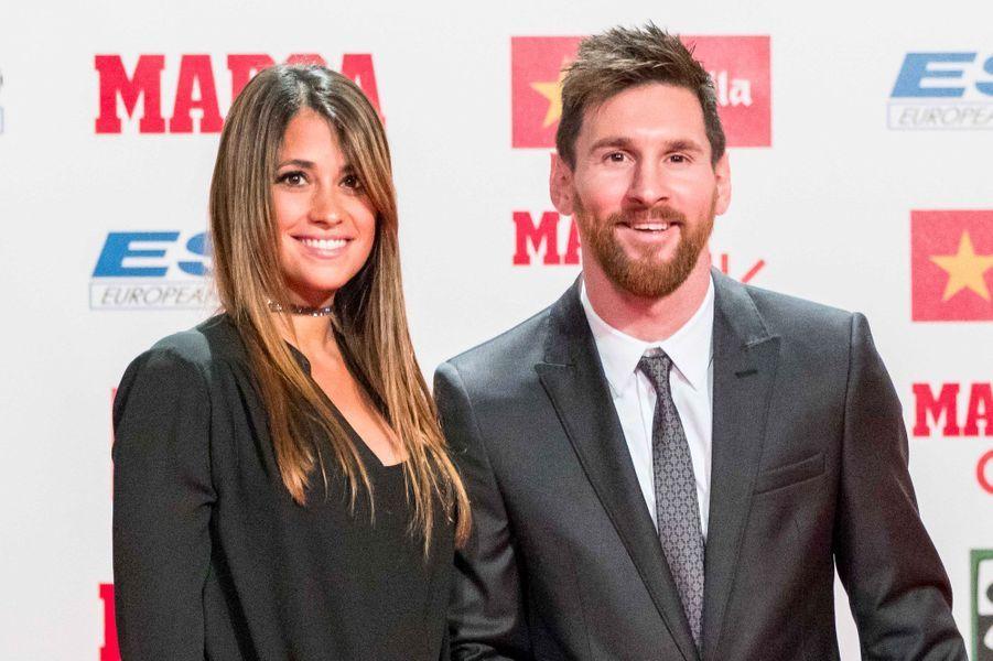Lionel Messi et Antonella Roccuzzo en novembre 2017