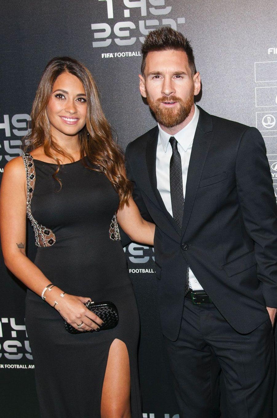 Lionel Messi et Antonella Roccuzzo en octobre 2017