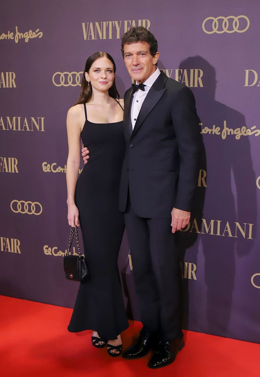 "Antonio Banderas et sa fille Stella à la cérémonie ""Vanity Fair Personality of the Year Awards 2019"" à Madrid, le 25 novembre 2019."