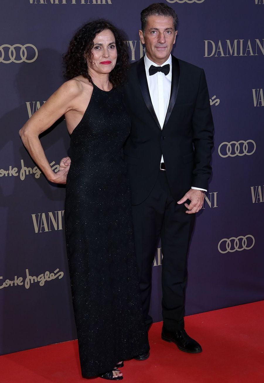 "Le frère d'Antonio Banderas, Javier, à la cérémonie ""Vanity Fair Personality of the Year Awards 2019"" à Madrid, le 25 novembre 2019."
