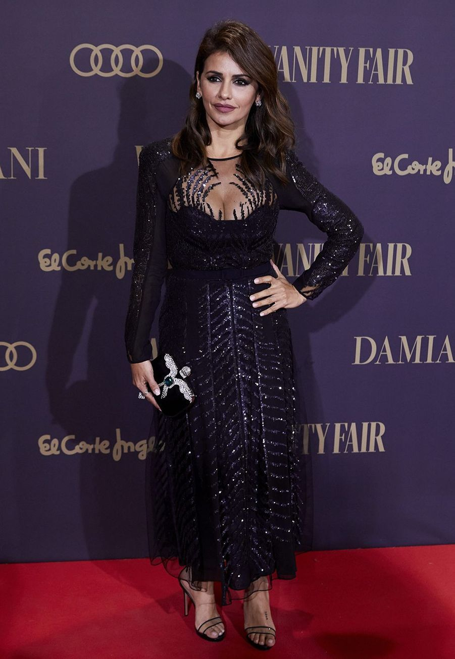 "Monica Cruz à la cérémonie ""Vanity Fair Personality of the Year Awards 2019"" à Madrid, le 25 novembre 2019."