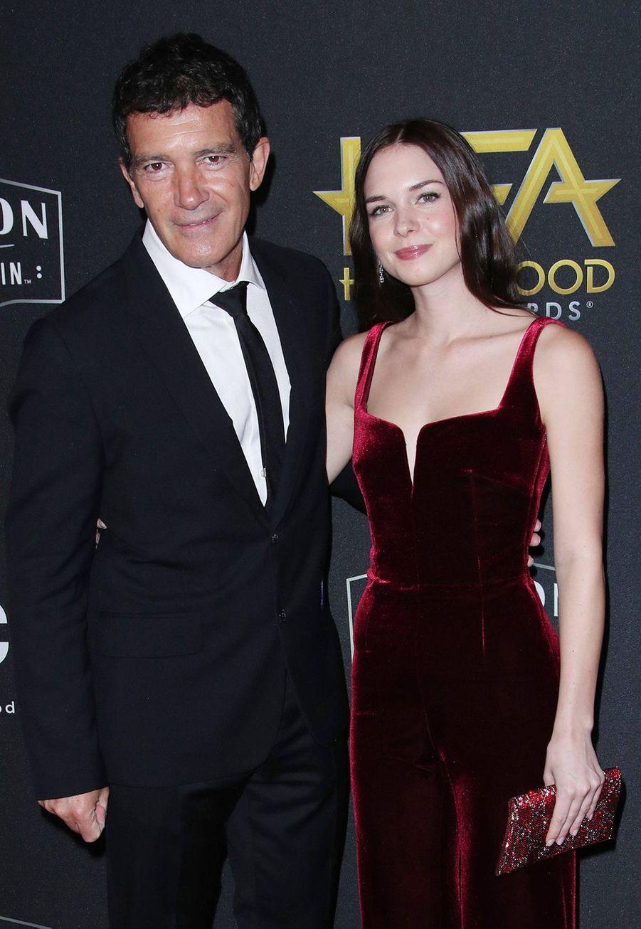 Antonio Banderas et sa fille Stella auxHollywood Film Awards à Los Angeles le 3 novembre 2019