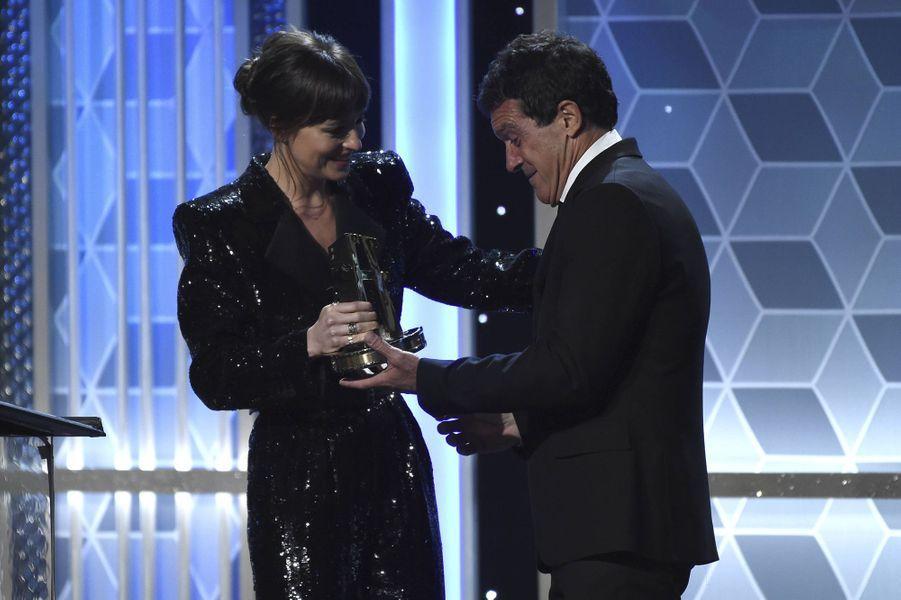 Dakota Johnson et Antonio BanderasauxHollywood Film Awards à Los Angeles le 3 novembre 2019