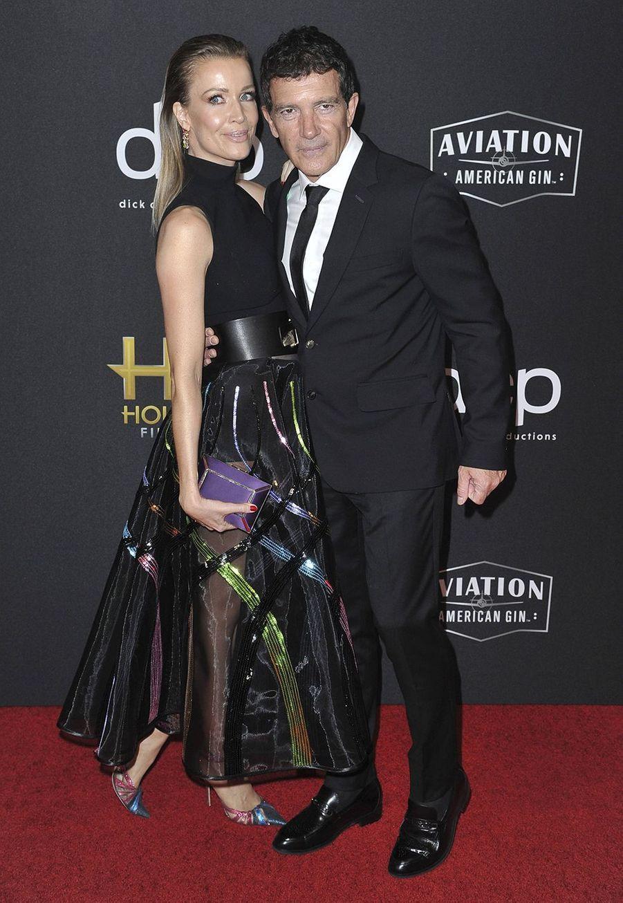 Nicole Kempel et Antonio BanderasauxHollywood Film Awards à Los Angeles le 3 novembre 2019