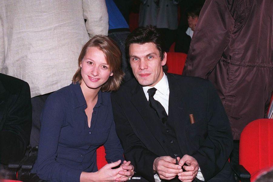 Marc Lavoine et Sarah en 1995.