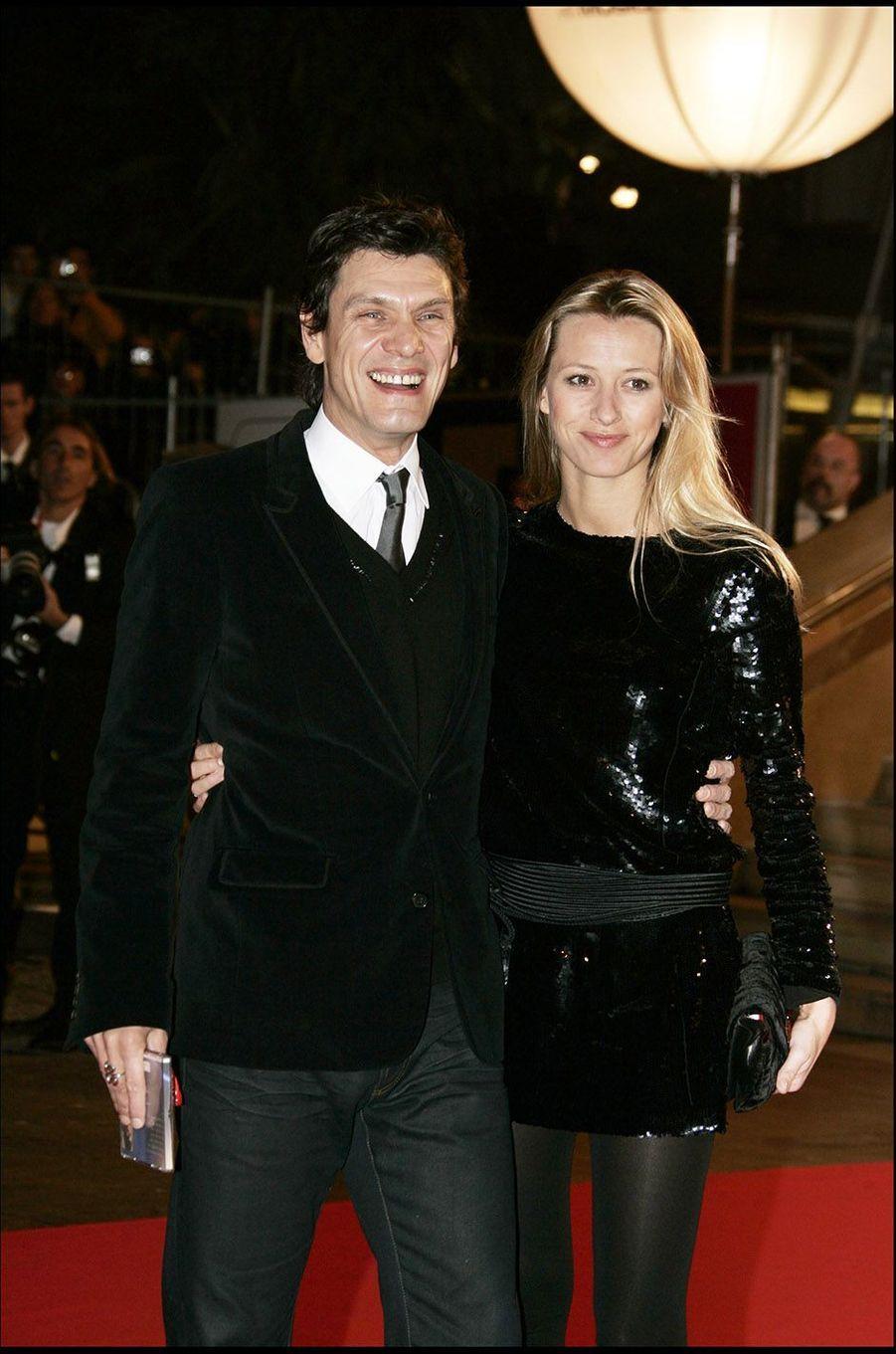 Marc Lavoine et Sarah au festival de Cannes en 2006.
