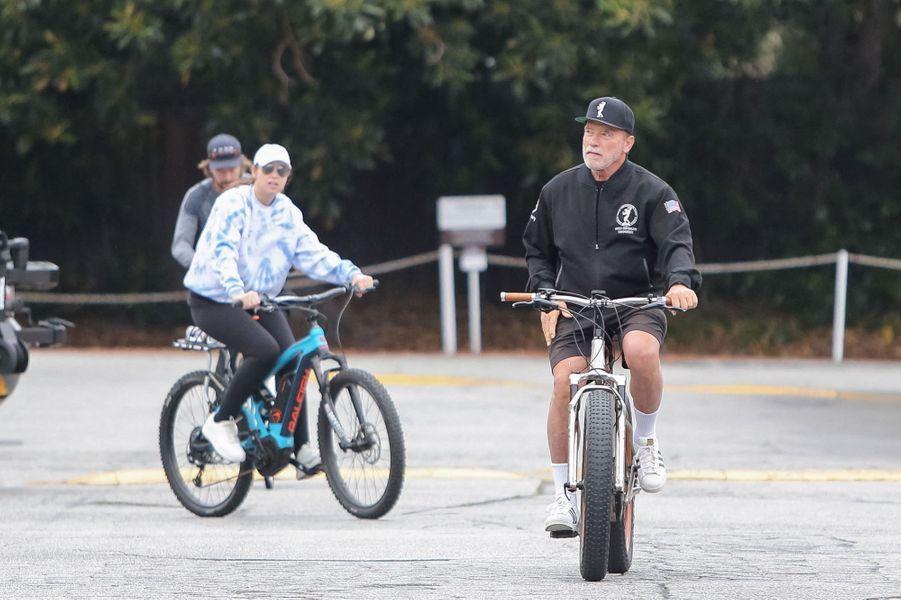 Arnold Schwarzenegger et Heather Milligan à Los Angeles le 16 juin 2020.