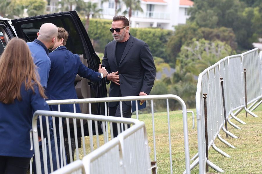 Arnold Schwarzenegger à la remise de diplôme de son fils Joseph à Malibu le 27 avril 2019
