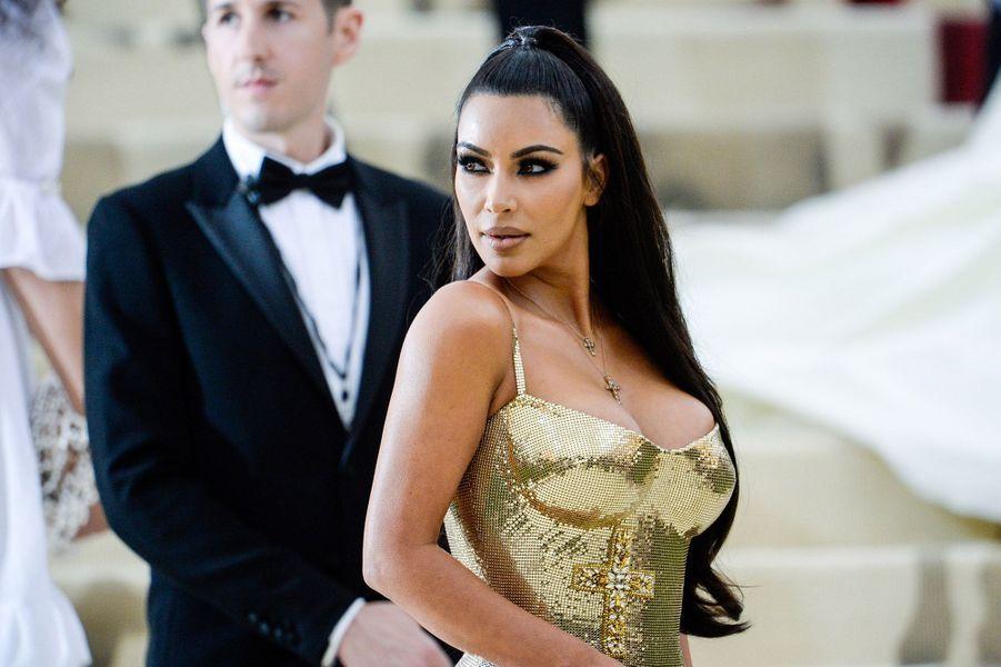 Kim Kardashianau Met Gala 2018, à New York le 7 mai 2018.