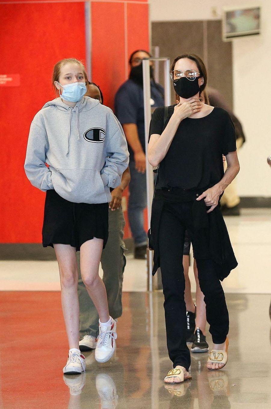 Angelina Jolie et sa fille Shilohà Los Angeles le 19 septembre 2020