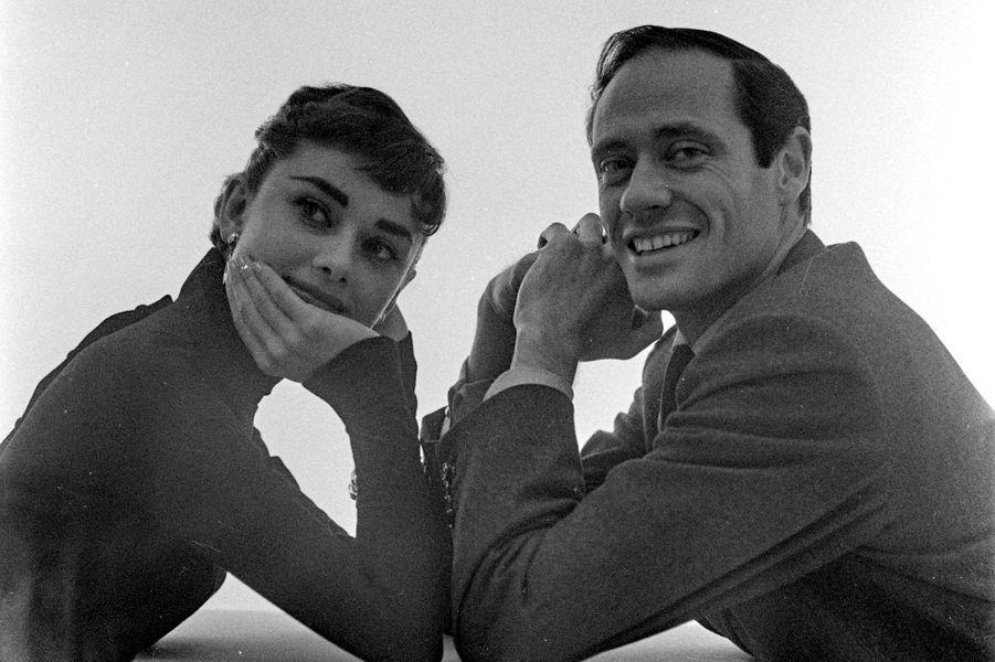 Audrey Hepburn et son mari Mel Ferrer en 1953