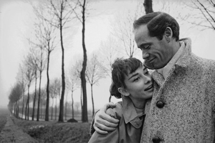 Audrey Hepburn et Mel Ferrer en 1956