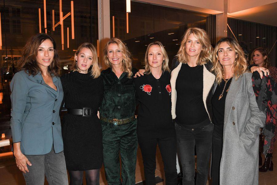 Aure Atika, Ludivine Sagnier, Alexandra Lamy, Audrey Lamy Enceinte, Alice Taglioni et Mademoiselle Agnèslors desBold Woman Awards à Paris le jeudi 14 novembre2019.