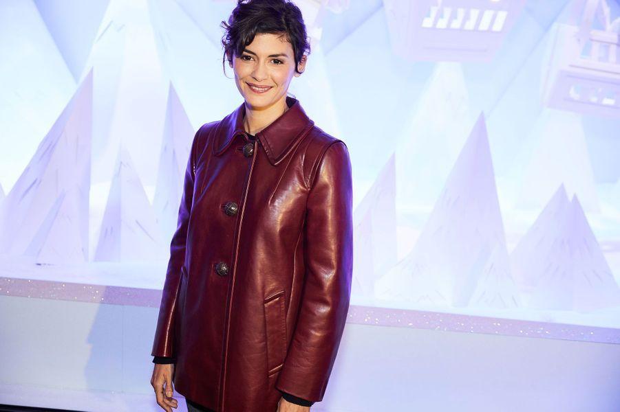 Audrey Tautou a inauguré les fêtes de Noël aux galeries Lafayette, à Paris, lundi
