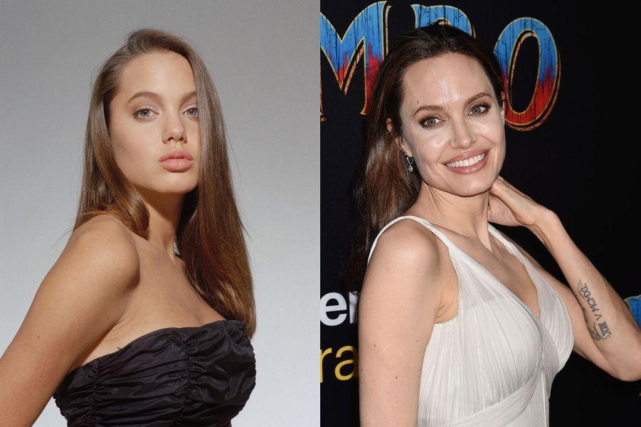 Angelina Jolie en1991 et 2019