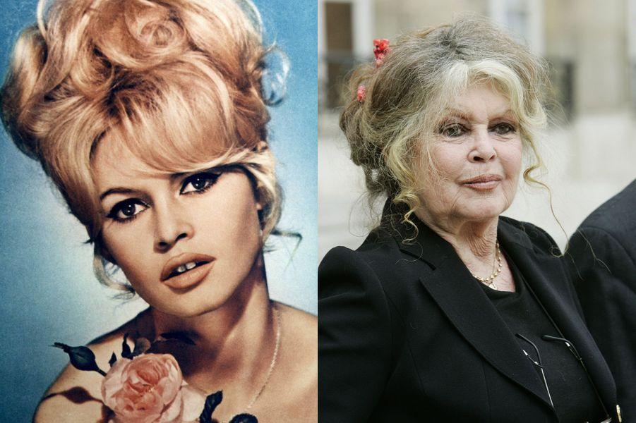 Brigitte Bardot en 1963 et 2007