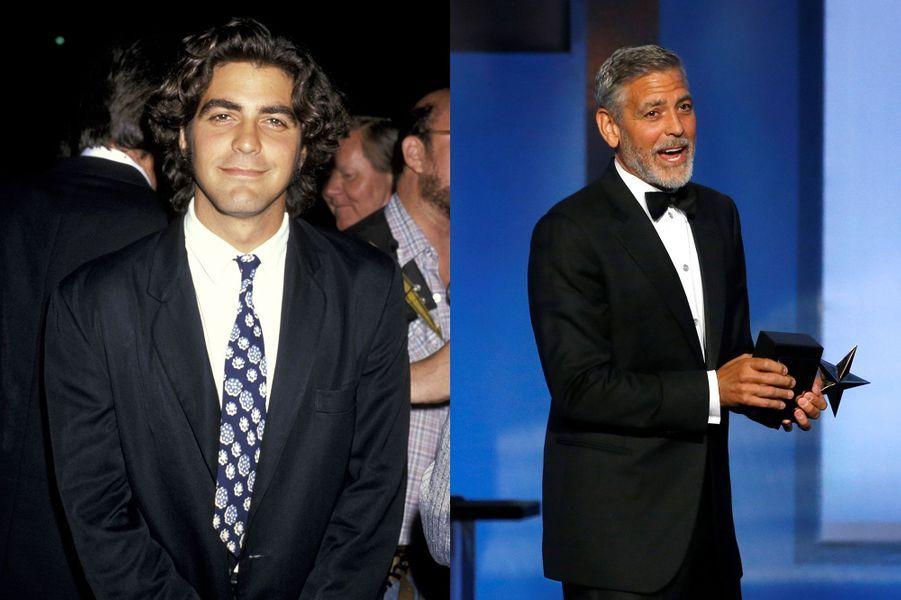 George Clooney en 1989 et 2018