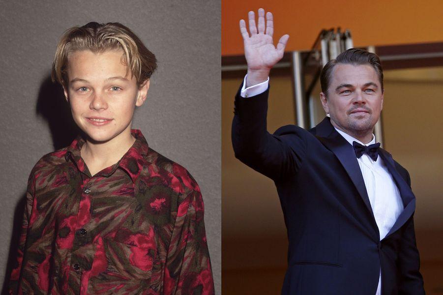Leonardo DiCaprio en 1989 et 2019