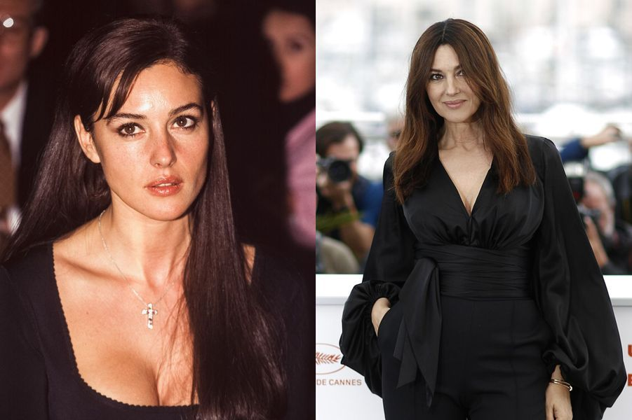 Monica Bellucci en 1996 et 2019