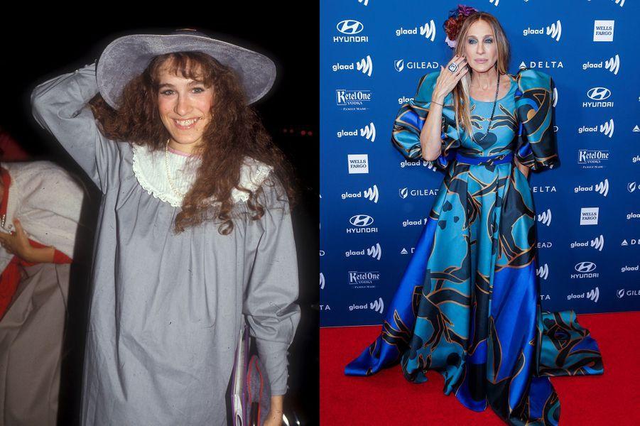 Sarah Jessica Parker en 1980 et 2019