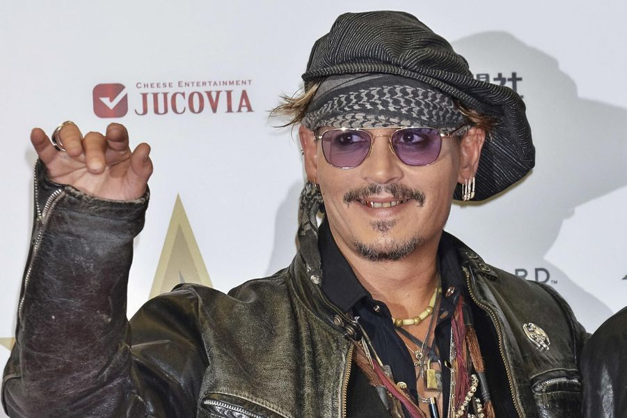 Johnny Depp au Japon en 2016.