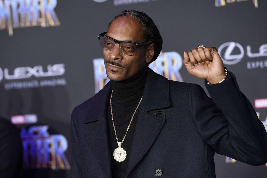 """Snoop Dog à l'avant-première de """"Black Panther"""" à Los Angeles, le 29 janvier 2018."""