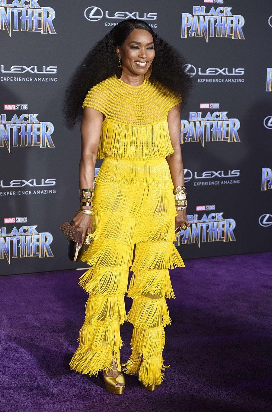 """Angela Bassett à l'avant-première de """"Black Panther"""" à Los Angeles, le 29 janvier 2018."""