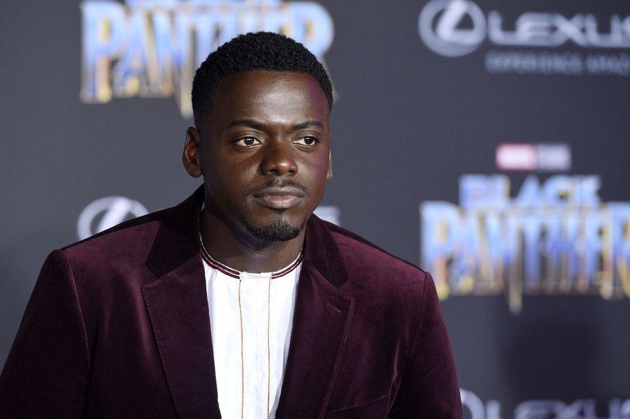"""Daniel Kaluuya à l'avant-première de """"Black Panther"""" à Los Angeles, le 29 janvier 2018."""