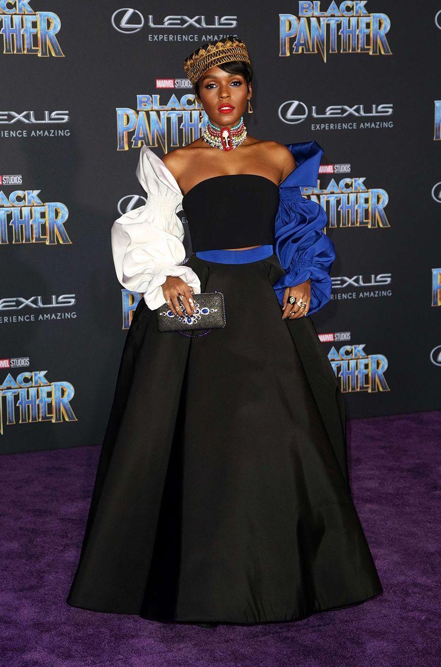 """Janelle Monae à l'avant-première de """"Black Panther"""" à Los Angeles, le 29 janvier 2018."""
