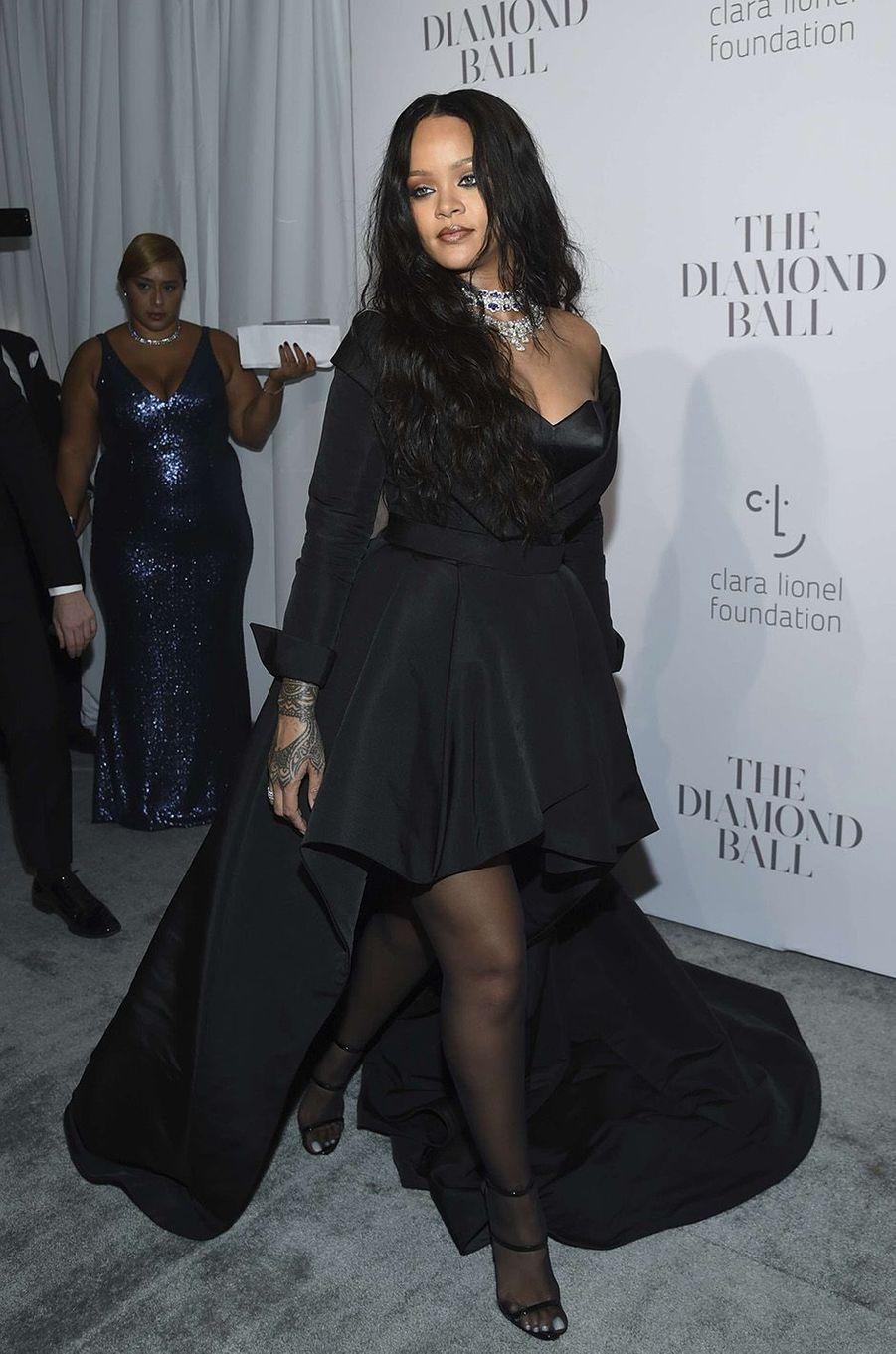 Rihanna éblouissante au Diamond Ball à New York, le 14 septembre 2017.