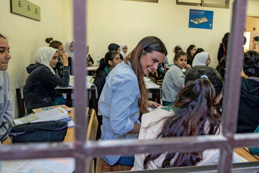 En classe, à l'école de Dabouq. Ici, les cours ne sont pas mixtes.