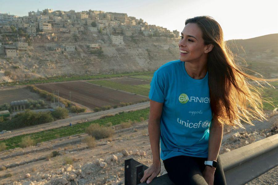 Marine est la porte-parole du partenariat noué entre Garnier et l'Unicef. « Je souhaite donner de la visibilité aux actions menées pour venir en aide aux enfants. » A Amman, le 30 octobre.