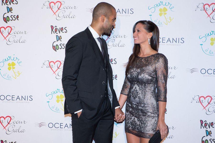 Axelle et Tony Parker à la soirée de l'association Par Coeur Gala à Lyon en septembre 2014
