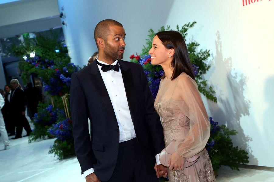 Axelle et Tony Parker au gala de la Croix-Rouge monégasque à Monaco en juillet 2019