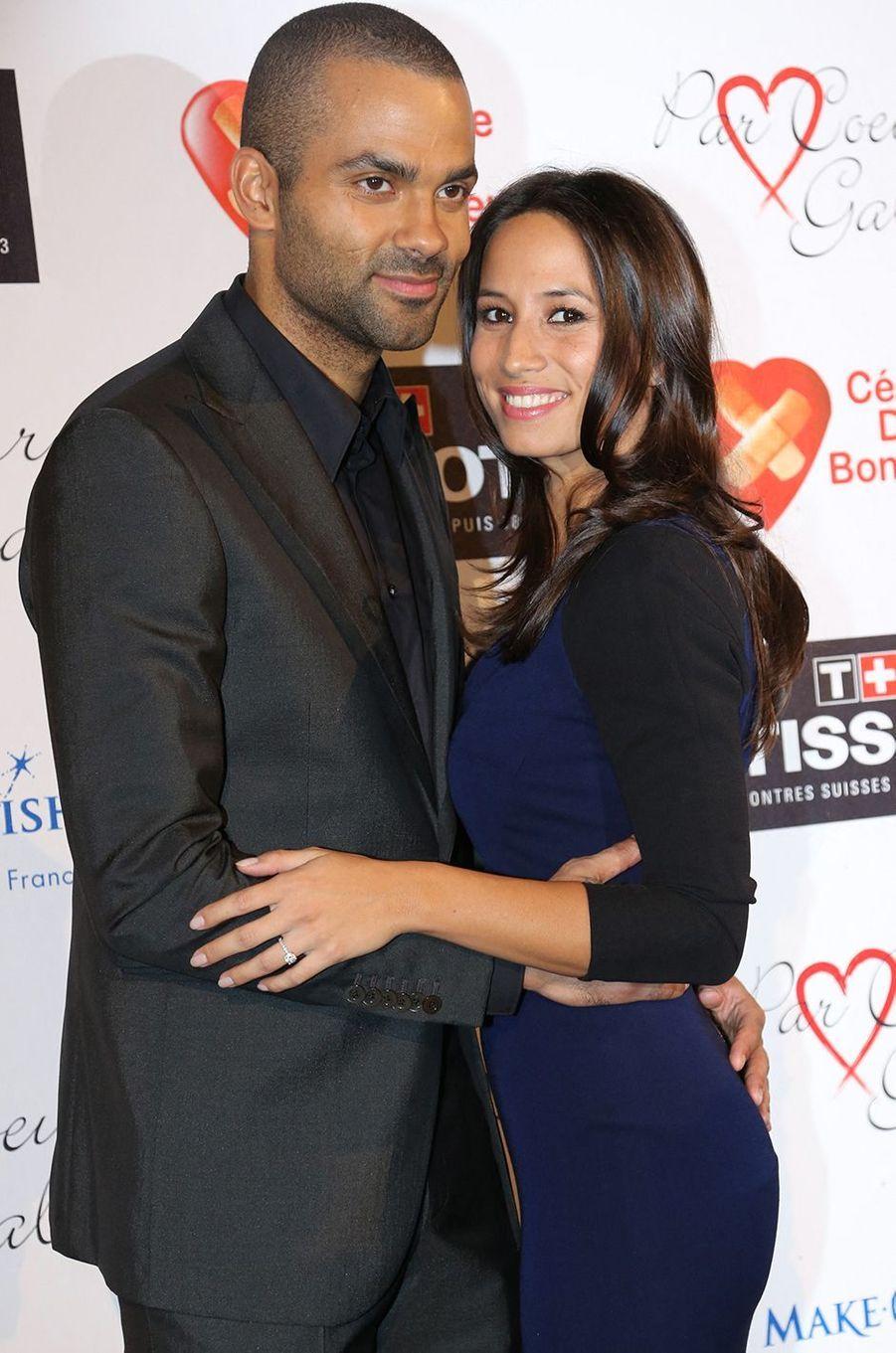 Axelle et Tony Parker lors d'une soirée pour l'association Par Coeur Gala àCollonges en septembre 2013